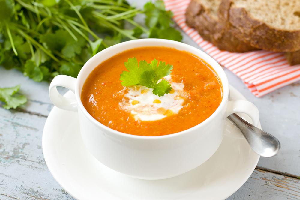 Karotten Ingwer kokos Suppe